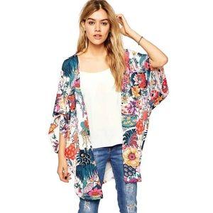 5⭐️Fave!! Passionflower Tropical Kimono